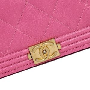 Chanel Bags - Classic Flap Boy Quilted Caviar Small Woc Pink